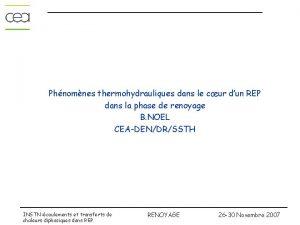 Phnomnes thermohydrauliques dans le cur dun REP dans