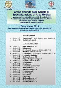 Universit degli Studi di Cagliari AOU Cagliari Grand
