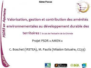 4me Focus Valorisation gestion et contribution des amnits