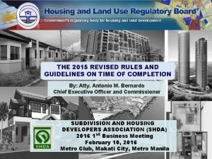 RecentlyIssued Rules and Guidelines THE 2015 REVISED RULES