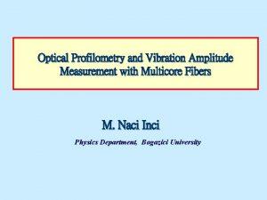 Optical Profilometry and Vibration Amplitude Measurement with Multicore
