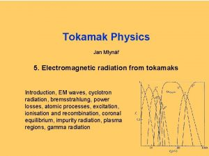 Tokamak Physics Jan Mlyn 5 Electromagnetic radiation from