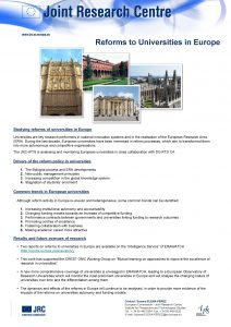 Reforms to Universities in Europe Studying reforms of