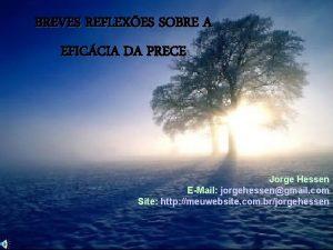BREVES REFLEXES SOBRE A EFICCIA DA PRECE Jorge