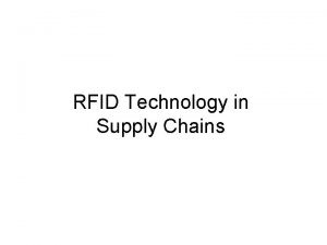 RFID Technology in Supply Chains Diverse Applications Marathon