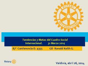 Tendencias y Metas del Cuadro Social Internacional 31