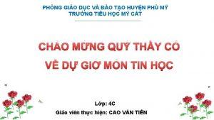 PHNG GIO DC V O TO HUYN PH