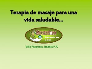Terapia de masaje para una vida saludable therapeutic