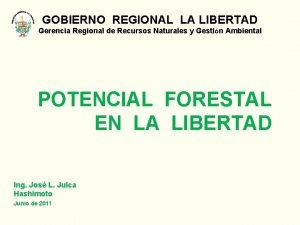 GOBIERNO REGIONAL LA LIBERTAD Gerencia Regional de Recursos