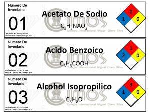Numero De Inventario 01 Acetato De Sodio C