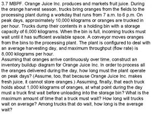 3 7 MBPF Orange Juice Inc produces and