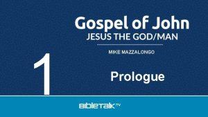 1 MIKE MAZZALONGO Prologue Author John Son of