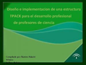 Diseo e implementacion de una estructura TPACK para