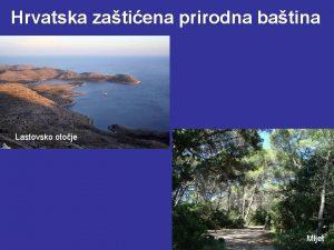 Hrvatska zatiena prirodna batina Lastovsko otoje Mljet Hrvatska