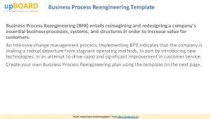Business Process Reengineering Template Business Process Reengineering BPR