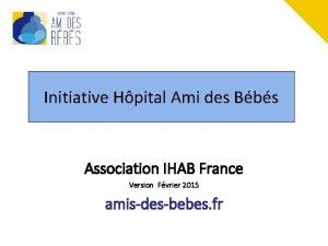 Initiative Hpital Ami des Bbs Association IHAB France