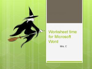 Worksheet time for Microsoft Word Mrs C Worksheet