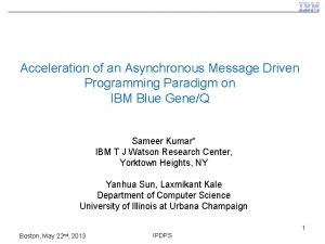 Acceleration of an Asynchronous Message Driven Programming Paradigm