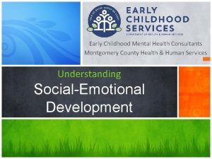 Early Childhood Mental Health Consultants Montgomery County Health