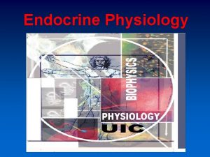 Endocrine Physiology Endocrine system maintains homeostasis The concept