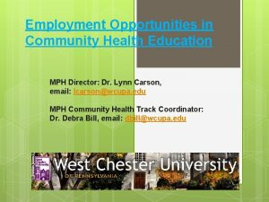 Employment Opportunities in Community Health Education MPH Director