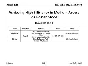 March 2016 doc IEEE 802 11 160394 r