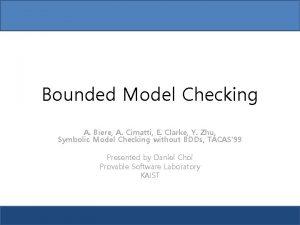 Bounded Model Checking A Biere A Cimatti E