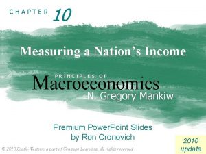 CHAPTER 10 Measuring a Nations Income Macroeconomics PRINCIPLES