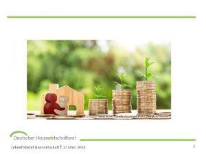 Zukunftsberuf Hauswirtschaft 17 Mrz 2018 1 Das H