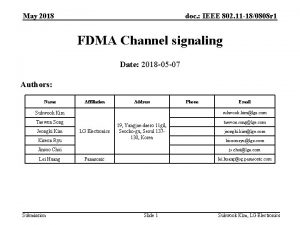 May 2018 doc IEEE 802 11 180808 r