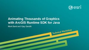 Animating Thousands of Graphics with Arc GIS Runtime
