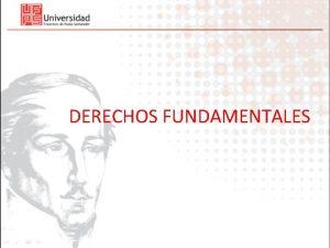 DERECHOS FUNDAMENTALES Derechos Fundamentales Concepto y denominacin Se