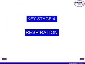 KEY STAGE 4 RESPIRATION Boardworks Ltd 2003 So