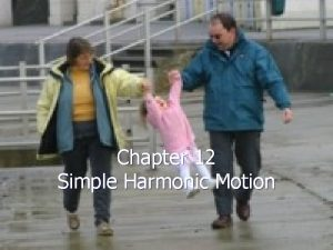 Chapter 12 Simple Harmonic Motion Photo by Mark