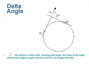 Delta Angle n This symbol is called delta