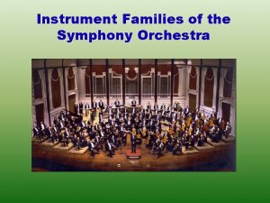 Instrument Families of the Symphony Orchestra Instrument Families