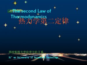 The second Law of Thermodynamics Xian University of