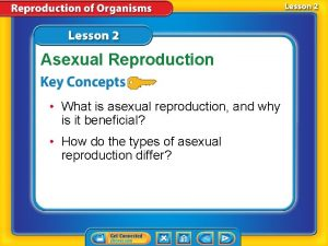 Asexual Reproduction What is asexual reproduction and why