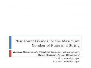 New Lower Bounds for the Maximum Number of