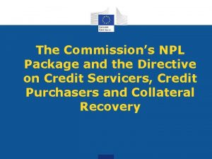 The Commissions NPL Package and the Directive on