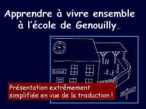 Prsentation extrmement simplifie en vue de la traduction