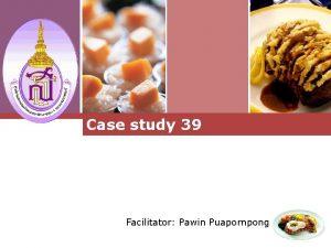 Logo Case study 39 Facilitator Pawin Puapornpong Logo