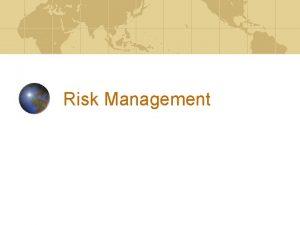 Risk Management Risk Categories Strategic Credit Market Liquidity