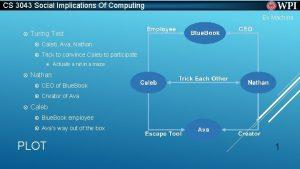 CS 3043 Social Implications Of Computing Ex Machina