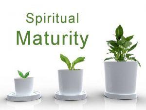 Spiritual Maturity Spiritual Maturity Put away carnal things