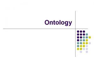 Ontology History of the Semantic Web l l