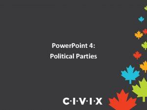 Power Point 4 Political Parties Political Beliefs People