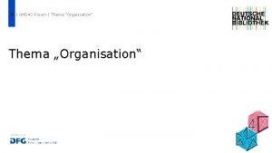 1 GND 4 CForum Thema Organisation Thema Organisation