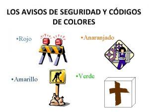 LOS AVISOS DE SEGURIDAD Y CDIGOS DE COLORES
