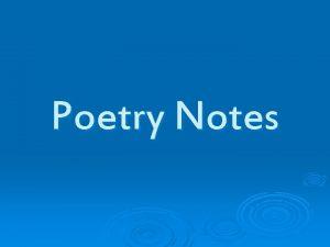 Poetry Notes Figurative Language Figurative Language A Figure